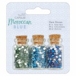 Gem Bottles (3pcs) - Capsule Morroccan Blue