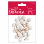 Decorative Frosted Berries 8mm 24pk