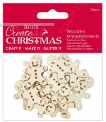 Wooden Gingerbread Men 20pk