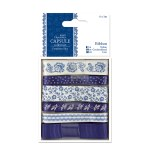Papermania 1m Ribbon (6pcs) - Capsule Collection - Parisienne Blue