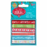 Papermania Ribbon 1m Folk Christmas