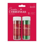 Papermania Fine Glitter (2pk) Red & Green
