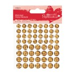 Papermania Gold Shimmer Dome Stickers - Acid Free - Adhesive - 60 Pieces