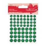 Papermania Green Shimmer Dome Stickers - Acid Free - Adhesive - 60 Pieces