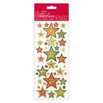 Foiled & Embossed Stickers Xmas Stars