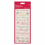 Stickers Christmas Text