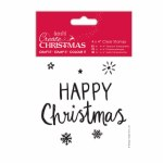 "Clear Stamp 4x4"" Happy Christmas"