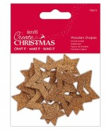 Wooden Shape Bronze Star 12pk