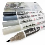 Ecoline Brush Pens Grey 5pk