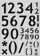 Stencil A4 CE B/Numbers 56mm