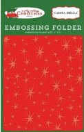 "Embossing Folder CB 5x6""  Very Merry Christmas"