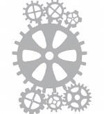 Stencil A4 Pronty Gears 2