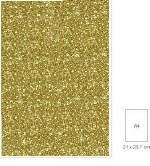 Glitter Paper 120gm A4 Gld 5pk