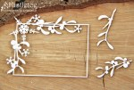 Chipboard Mistletoe Rect Frame
