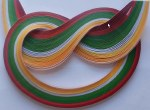 Quilling Strips 100pk Xmas Shades