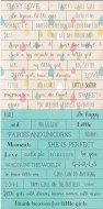 Word Stickers Piatek Little Girl