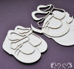 Chipboard Baby Shoes