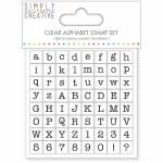 Clear Stamp SC Alphabet Typewr