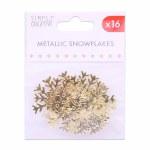 Snowflakes Gold 6pk