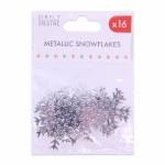 Snowflakes Silver 6pk