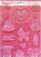 Stamperia Soft Moulds Baby Classic