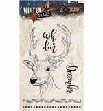Clear Stamp StudioLight Winter Trails Deer Nr.302