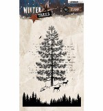 Clear Stamp StudioLight Winter Trails Christmas Tree Nr.303