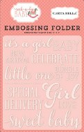 Embossing Folder Rock Bye Girl