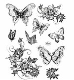 Clear Stamp Viva Butterfly & Flowers
