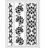 Stencil A5 Viva Flower Borders 3pk