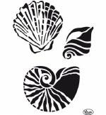 Stencil A4 Viva Decor Shells