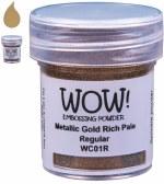 Wow! Emboss Powder 15ml Superfine Rich Gold Pale
