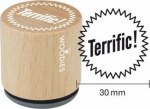 Woodies Terrific! Rubber Stamp