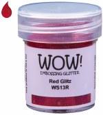 Wow! Emboss Powder 15ml Regular Red Glitz