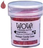 Wow! Emboss Powder Candy Cane