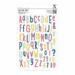 A5 Die Set Folk Alphabet 66pk