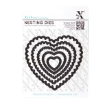 XCut Die Nesting Scalloped Heart