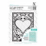Xcut Cut&Emboss Heart Frame