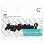 XCut Mini Sentiment Die (3pcs) Happy Birthday