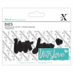 XCut Mini Sentiment Die (3pcs) With Love