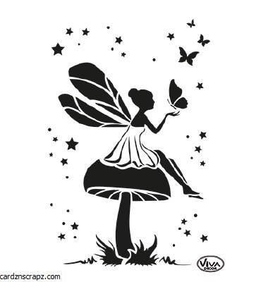 Stencil A4 Viva Fairy Mushroom