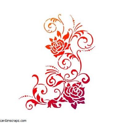 Stencil A4 Viva Filigre Flower