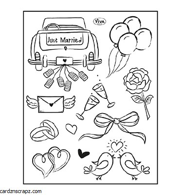 Clear Stamp A5 Viva Just Married