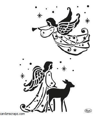 Stencil A4 Viva Xmas Angels
