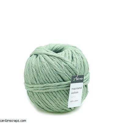 Vivant Macrame Cotton Cord, Mint