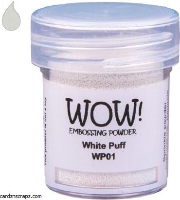 Wow! Emboss Powder 15ml Regular White Puff