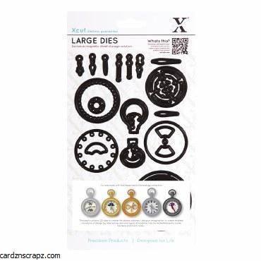 XCut Dies - Chronology Pocket Watch (large) 21 pieces