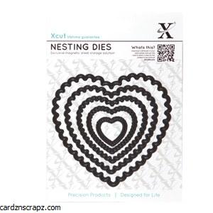 XCut Die Nesting Scalloped Heart
