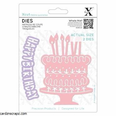Xcut Die (1pc) Birthday Cake