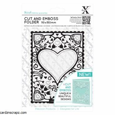 Xcut Cut&Emboss Heart Frame
